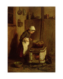 The Little Housekeeper, 1857 Giclee Print by Pierre Edouard Frere