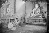 Praying to Buddha, Burma, C.1890-99 Photographic Print by Max and Bertha Ferrars