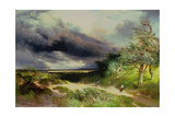 East Hampton, Long Island, Sand Dunes, 1892 Giclee Print by Thomas Moran