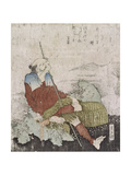 Old Fisherman Smoking His Pipe, C.1835 Giclee Print by Katsushika Hokusai