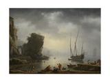 Mediterranean Coastal Scene, 1746 Giclée-Druck von Antoine Charles Horace Vernet