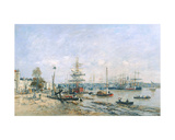 Bordeaux - Quay and Port, 1874 Giclee Print by Eugène Boudin