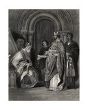 Henry II Presenting the Pope's Bull to the Archbishop of Cashel, Engraved by G. Greatbach Giclee Print by Henry Warren