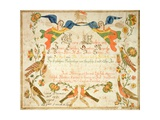 Fraktur for the Birth and Baptismal Certificate for Elizabeth Wachter (1808-71) 1808 Giclee Print