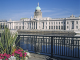 The Custom House on the River Liffey Photographic Print by James Gandon