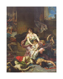 Joash Saved from the Massacre of the Royal Family, 1867 Giclee Print by Henri Leopold Levy