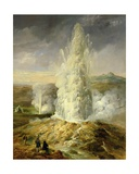 The Great Geysir, South Iceland, 1849 Giclee Print by Thomas Kerr Fairless