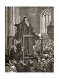 Thomas Cranmer's (1489-1556) Last Testimony Giclee Print