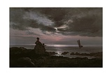 Mother and Child by the Sea, 1840 Giclee Print by Johan Christian Dahl