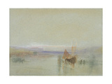 Fishing Boats Becalmed Off Le Havre Stampa giclée di Joseph Mallord William Turner