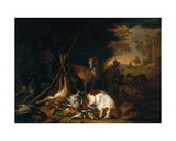 A Hunter with His Dogs Giclee Print by Adriaen de Gryef