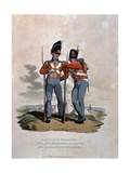 Battalion Infantry 6th Regiment and 23rd (Or Royal Welsh) Fusiliers, from 'Costumes of the Army… Giclee Print by Charles Hamilton Smith