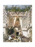 Palace of the Governors, Uxmal, Yucatan, Mexico, 1844 Giclee Print by Frederick Catherwood