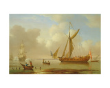 Royal Yacht Becalmed at Anchor Giclee Print by Peter Monamy