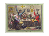 Anacreontick's in Full Song, Published by Hannah Humphrey in 1801 Giclee Print by James Gillray
