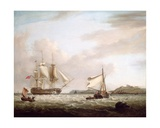 An English Man-Of-War Off Pendennnis Castle, Falmouth 1801 Giclee Print by George Webster