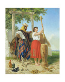 The Pounding of the Corn; Spanish American Scene Giclee Print by Jean-Leon Palliere