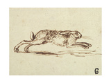 A Hare Running, with Ears Laid Back Impression giclée par James Seymour