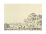 Windsor Castle and Park with Deer Giclee Print by Joseph Mallord William Turner