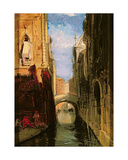 A Side Canal, Venice Giclee Print by James Holland