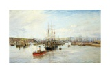 Entrance to Barry Dock, South Wales, 1897 Giclee Print by William Lionel Wyllie