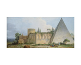 Tomb of Gaius Cestius, Rome Giclee Print by Jean Jacques Francois Le Barbier