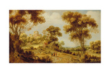 An Extensive Wooded Landscape with Christ on the Road to Emmaus, C.1609-29 Giclee Print by Gillis Claesz d'Hondecoeter