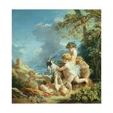 Autumn, 1731 Giclée-tryk af Francois Boucher