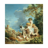 Autumn, 1731 Lámina giclée por Boucher, Francois