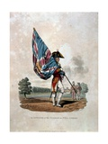 An Officer of the Guards in Full Dress, from 'Costumes of the Army of the British Empire,… Giclee Print by Charles Hamilton Smith