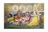 Company Shocked at a Lady Getting Up to Ring the Bell Giclee Print by Brownlow North