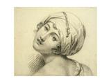 Portrait of Emma (C.1765-1815) Lady Hamilton Giclee Print by Jean Baptiste Joseph Wicar