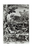 Cupid and Psyche, 1573-74 Giclee Print by Giorgio Ghisi