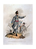 Infantry Officer in Marching Order, from 'Costumes of the Army of the British Empire, According… Giclee Print by Charles Hamilton Smith