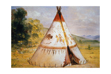 Teepee of the Crow Tribe, C.1850 Giclee Print by George Catlin