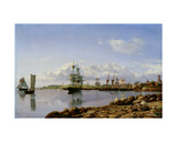 Shipping Off a Baltic Port Giclee Print by  Carl E. Larsen and Carl Johan Neumann