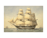 Hms Bellerophon Off the Coast, 1875 Giclee Print by William Frederick Mitchell