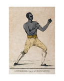 A Striking View of Richmond, a Portrait of the Boxer, 1810 Giclee Print by Richard Dighton