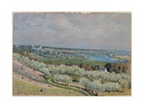 The Terrace at Saint-Germain, Spring, 1875 Giclee Print by Alfred Sisley