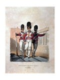 Grenadiers of the Foot Guards in Full Dress, from 'Costumes of the Army of the British Empire,… Giclee Print by Charles Hamilton Smith
