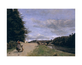 Landscape with Mother and Children Giclee Print by Jean Baptiste Camille Corot