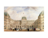 View of the Quadrangle of the New Liverpool Exchange Giclee Print by Thomas Wyatt Wyatt