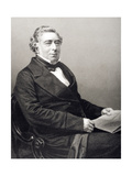 Robert Stephenson (1803-59) Engraved by D.J. Pound from a Photograph, from 'The Drawing-Room of… Giclee Print by John Jabez Edwin Paisley Mayall