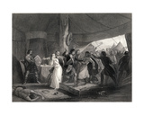 The Murder of Shane O'Neill (C.1530-67) Engraved by J.Rogers Giclee Print by Henry Warren
