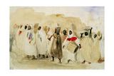 Procession of Musicians in Tangier Reproduction procédé giclée par Eugene Delacroix