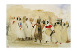 Eugene Delacroix - Procession of Musicians in Tangier - Giclee Baskı