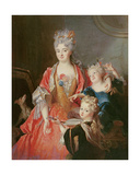A Woman with Two Children Giclee Print by Nicolas de Largilliere