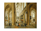 A View of Antwerp Cathedral, 1641 Giclee Print by  Pieter Neeffs and Frans Francken