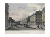 The Rue De Rivol, Engraved by Frederic Martens (1809-75) 1832 Giclee Print by Carlo Gilio