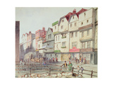 View of Long Lane, with Pigs in Pens in Part of Old Smithfield Market, 1844 Giclée-Druck